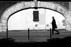 At the gate (pascalcolin1) Tags: paris13 homme man gate grille ombre shadow lumière light photoderue streetview urbanarte noiretblanc blackandwhite photopascalcolin