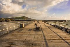 The Wooden Jetty,Aberystwyth (dannie843) Tags: aberystwyth cymru ceredigion clouds wales sea
