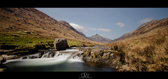 Glen Rosa, Arran (dandraw) Tags: longexposure sky panorama mountains colour pool clouds river landscape scotland nikon pano creative sigma panoramic valley arran sigma1020mm colourfull glenrosa cirmhor creativephotography westscotland rosapinnacle glenrosawater d5100