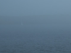 Can You See? (cjh44) Tags: mist ontario fog boat kingston lakeontario collinsbay