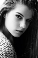 (Lyubov Pogorela) Tags: city light shadow portrait test white black eye texture girl beauty face sunshine fashion closeup canon photography photo spring model natural skin pastel makeup style eskimo modeltest  lyubovpogorela pogorela