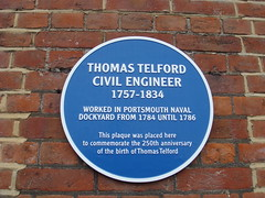 Portsmouth - plaque (Simply Jan) Tags: england history plaque hampshire telford portsmouth blueplaque engineer thomastelford dockyard civilengineer hmnavalbase
