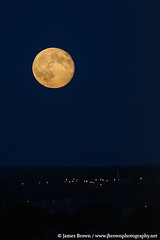 Waning Gibbous Moon (96.7% Illuminated) rising over Leicester (J. Brown Photography) Tags: brown moon night photography james photo sony leicester full astrophotography alpha