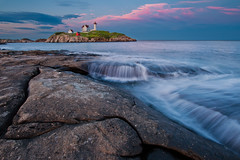 Nubble Light Sunset (chris lazzery) Tags: york sunset lighthouse maine nubblelight yorkbeach capeneddick canonef14mmf28lii 5dmarkii