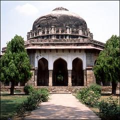 (*johnnyfavorite) Tags: new travel india 120 6x6 film garden square delhi slide cm hasselblad journey epson medium format 500 lodi v700 johnnyfavorite