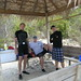 <p>From left, Paul Jensen, William Fenical, and Chris Kauffman of Scripps Institution of Oceanography, UC San Diego, during a collecting trip inside mangroves at Little San Salvador, Bahamas, in 2010.</p>