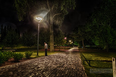 Walk in the park (Wameq R) Tags: park longexposure netherlands night photoshop canon photography rotterdam shots 5d nightshots 1740mm hdr manfrotto photomatix 5dm3 blinkagain hdrefex 5dmiii