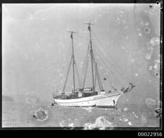 Two-masted schooner SEETEUFEL anchored in Neutral Bay near Kirribilli, Sydney