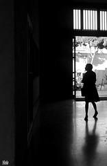 Girovagando. (Viola30) Tags: roma ombra erika riflessi bianco nero ricerca luce controluce ragazza portone bertoli