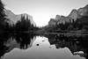 Gates of the Valley, Yosemite (Seth Berry Photography) Tags: california park morning summer bw white black mountains reflection creek sunrise river stream gates merced national valley yosemite yosemitenationalpark gatesofthevalley sethberryphotography
