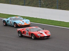 Ford GT40's (ekawrecker) Tags: classic car race belgium historic hour six spa 2013