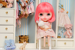 The newest little princess  (Ashley ) Tags: cherry doll kawaii blythe custom cherrybomb barbiesilkstonewardrobe henriettejardin vinterardenboots supabonbon lalatroopboots