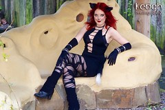 IMG_8679 (Neil Keogh Photography) Tags: red people girl cat garden photoshoot gloves bracelets gothgirl legwarmers catears blackdress spikedcollar dogcollar rippedtights modellara portraitphoto manchestercitycenter