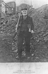 William Crook of Aspull, Wigan, miner with 72 yrs service Crawford Pit behind (Pitheadgear) Tags: collier mine pit lancashire mining geology miner miners colliery wigan coalmining aspull mineworker vision:outdoor=096 vision:plant=0519 wigancoalironco