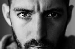 (Damien Cox) Tags: uk portrait blackandwhite bw selfportrait man male me self ego myself beard mono eyes nikon masculine moi grayscale scruff stubble i damiencox dcoxphotographycom
