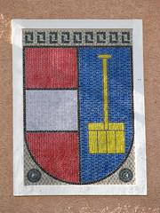 Hallstatt coat of arms mosaic (Sparky the Neon Cat) Tags: austria europe arms mosaic coat upper osterreich salzkammergut hallstatt