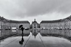 Reflections in Bordeaux (espinozr) Tags: autumn cloud france reflection fall rain umbrella lluvia europe fav50 cloudy bordeaux rainy reflejo otoño nublado sombrilla nube aquitaine fav10 fav25 fav100 2013 fav75