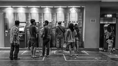 ATM (HaIogen) Tags: street people mobile horizontal blackwhite sony 169 xperiaz1