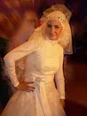 Bride (Mohamad Khedr) Tags: wedding white black groom bride veil hijab