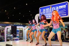 Dance show with beautiful, sexy girls for Lamina films at the 30th Thailand International Motor Expo 2013 (UweBKK (α 77 on )) Tags: auto show girls woman sexy girl beautiful car digital thailand dance women automobile expo films sony exhibition motorbike event international thong impact motor 30th alpha dslr thani 77 challenger lamina presenter muang 2013