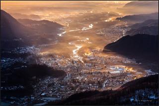 L'alba su Borgosesia