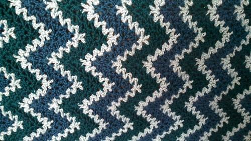 Ravelry Express V Stitch Ripple Afghan Pattern By Mara Thomas