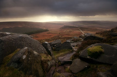 Rocky Paths (andy_AHG) Tags: winter rain rural sunrise rocks wind peakdistrict sheffield earlymorning stormy hills badweather beautifulscenery southyorkshire britishcountryside northernengland landscapephotography higgertor carlwark hathersagemoor
