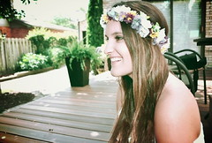 crown (carleigh~) Tags: flowers friends party summer girl beautiful smile face hair happy waves purple natural grunge hipster longhair tan makeup brunette flowercrown