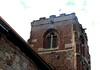 Atcham, Shropshire, St. Eata's church, tower, musical gargoyle (groenling) Tags: uk greatbritain england tower stone shropshire britain stonecarving carving gargoyle gb recorder atcham shawm salop mmiia steataschurch