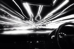 Warp speed less colour (Thewayofthebadger) Tags: blackandwhite bw monochrome long exposure driv