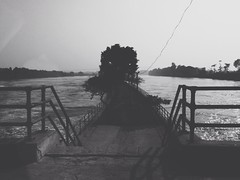 (delga9) Tags: blackandwhite bw india mobile river natural path dam hipster surreal sunny punjab iphone harike vsco uploaded:by=flickrmobile flickriosapp:filter=nofilter