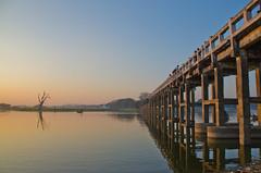 U-Bein Bridge 5 (Mariasme) Tags: ubein bridge sunset myanmar burma taungthamanlake amarapura favescontestwinner gamewinner fotocompetition fotocompetitionbronze storybookwinner 15challengeswinner