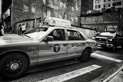 Cabbie Dreams (Ross Magrath) Tags: from street camera new york city nyc summer portrait bw usa white black hot streets colour
