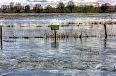 Floods (Crisp-13) Tags: road sign gardens river private fishing flood churchill salisbury southampton avon hdr