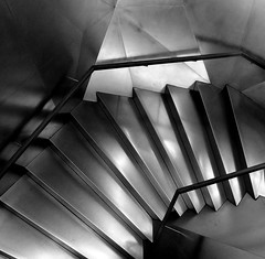 Stairs (Explore 21/03/14) (only lines) Tags: madrid stairs spain caixaforum