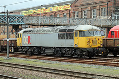 56311 (marcus.45111) Tags: train grid railway doncaster 2014 eastcoastmainline class56 56057 56311 stabled ukbuilt classictraction privatisedrailway