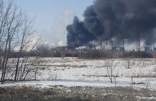 Cотрудники экстренных служб: пожар нахимзаводе КуйбышевАзот ликвидирован