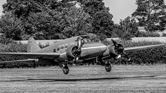 Avro Anson - Old Warden (davepickettphotographer) Tags: oldwarden airshow aircraft biggleswade bedfordshire uk vintage aviation trust park monotone gb theshuttleworthcollectionuk shuttleworthcollection collection avro anson nineteen basystems