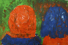 ob es dunkel wäre im Wald (raumoberbayern) Tags: abstract acryl acrylic fairytale märchen malerei painting paper papier robbbilder sketchbook skizzenbuch