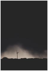 Wind Turbine - Storm, Glasgow (Gordon_Farquhar) Tags: wind turbine power energy glasgow scotland whitelees farm storm black silhouette foreboding darkness weather