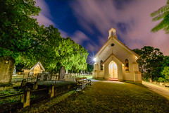 St Matthews Church, Grovely (stephenk1977) Tags: australia queensland qld brisbane grovely mitchelton stmatthews anglican church chapel night cloud blur nikon d3300 graveyard cemetery