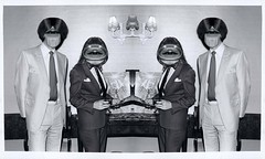 Frangible Super Fans Of The Febrile World (brancusi7) Tags: frangiblesuperfansofthefebrileworld absurd bw white monochrome dadapop popsurrealism weird strange odd creepy collage photomontage blackandwhite art thewishtobelieve thewishtobelong secrettimidelites hypnagogia dreams nightmares popkitsch brancusi7 johnseven