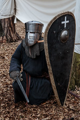 Resting after battle (Crones) Tags: canon 6d canoneos6d viking vikings czech czechrepublic praha prague canonef24105mmf4lisusm 24105mmf4lisusm 24105mm weapon shield sword