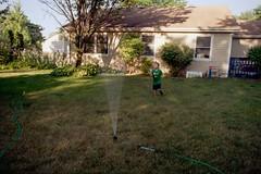Isaac [1] (jwbeatty) Tags: 35mm analog backyard family film filmisnotdead home hose illinois isaac ishootfilm kodak lakezurich mesuper pentaxart project365 smcm28mmf28 sprinkler ultramax400