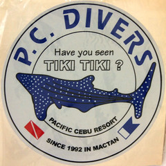 #1776 sticker: Have you seen Tiki Tiki, the whale shark (ジンベエザメ)? (Nemo's great uncle) Tags: mdf marinedivingfair scuba diving 文化会館 ikebukuro 東池袋三丁目 toshimaku 豊島区 tōkyō 東京 geotagged geo:lat=35728479 geo:lon=139720719 squircle squaredcircle