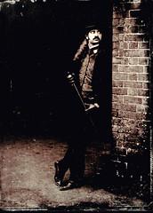 The Rake is waiting for you (moo pa) Tags: analogue alternative analog blackandwhite bw collodion devon exeter vintage largeformat man portrait tintype