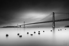 The Moment of Grey (YOSHIHIKO WADA) Tags: blackandwhite fineart seascape bridge sanfrancisco baybridge longexposure water travel architecture california