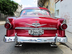 Vintage Cars in Havana (shaire productions) Tags: cuba cuban travel photo photograph image imagery picture road vintage retro old american car cars vehicle automotive automobile ride drive driving street urban havana red