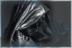 Velada en plata (seguicollar) Tags: escultura estatua velada velata daman mujer imagencreativa photomanipulación art arte artecreativo artedigital virginiaseguí plata plateada velo mano cara rostro