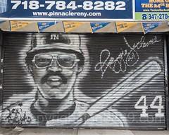 Reggie Jackson Canvas Painting near Yankee Stadium, The Bronx, New York City (jag9889) Tags: 2017 20170415 al allamericacity americanleague ballpark baseball baseballteam bombers bronx canvas graffiti legend majorleaguebaseball ny nyyankees nyc nyy newyankeestadium newyork newyorkcity newyorkyankees outdoor painting pinstripes player reggiejackson southbronx stadium tagging thebronx thebronxbombers theyanks usa unitedstates unitedstatesofamerica yankeestadium yankeestadiumiii yankees jag9889